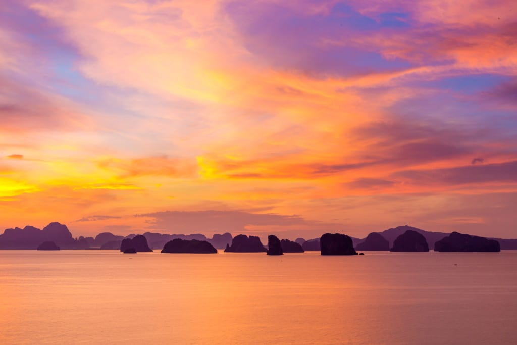 Sunrise at Six Senses Yao Noi Thailand