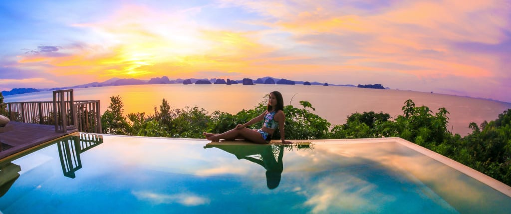 Sunset at Six Senses Yao Noi Thailand