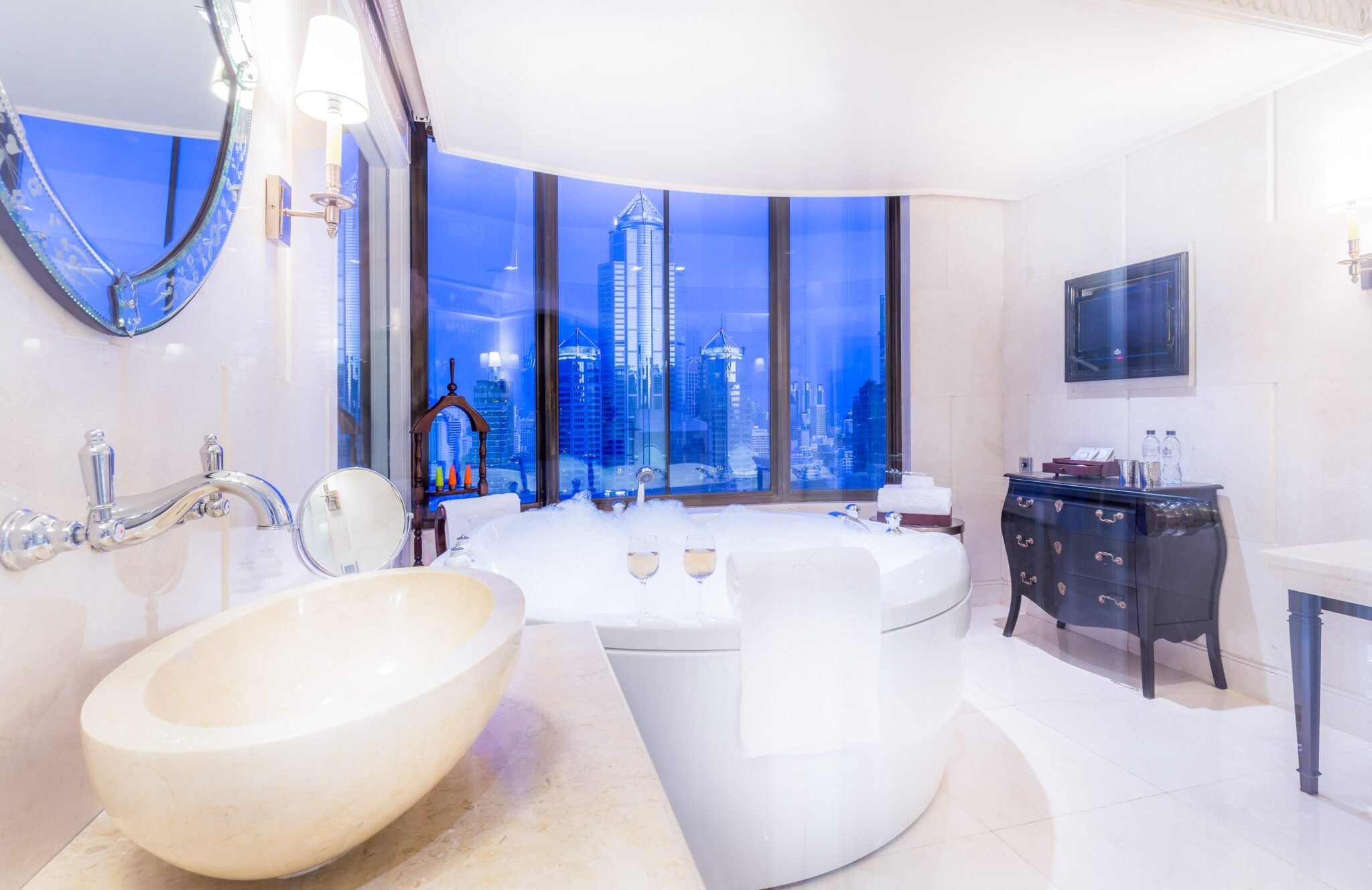 Paranim Penthouse Bathroom at Hotel Muse Bangkok Thailand