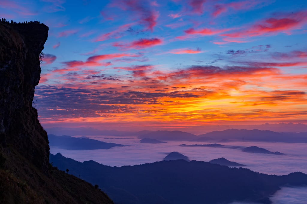 Sunrise Over Phu Chee Fah