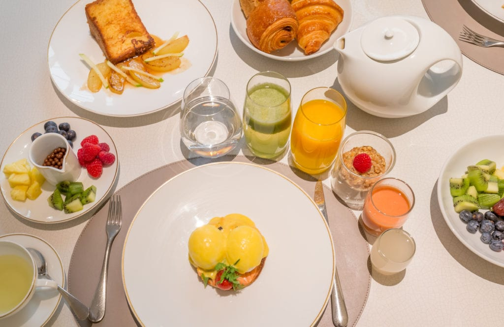 Breakfast at Mandarin Oriental Paris