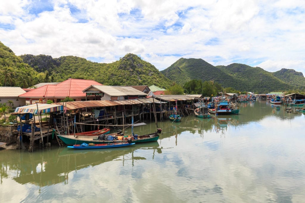 Fisherman Village in Kao Sam Roi Yot National Park